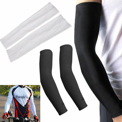 Cooling Arm Sleeves Cover 4 pairs UV Sun Protection Basketball Sport White&Black