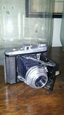 Rare Vintage Japanese Kuribayashi Karoron Folding Camera With Original Leather C