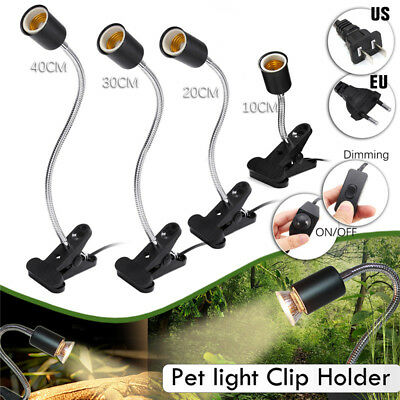 LED Plant Flower Grow Pet Reptile Light Lamp Bulb E27 Flexible Desk Holder Clip