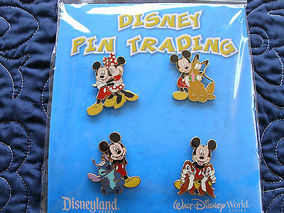 Disney MICKEY & FRIENDS 4 pin Retired BOOSTER Set *GREAT GIFT!*