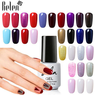 Belen Lacquer Gel Nail Polish UV LED Top Base Coat Nail Salon Vanish