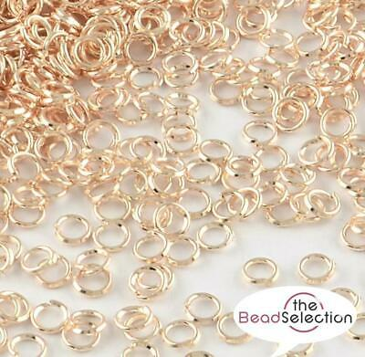 200 ROSE GOLD JUMP RINGS 5mm 6mm 7mm 8mm VERY STRONG 1mm THICK TOP QUALITY