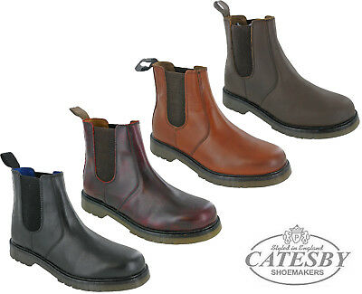 2690e12997c Mens Leather Chelsea Ankle Dealer Boots Catesby Twin Gusset Riding  Equestrian