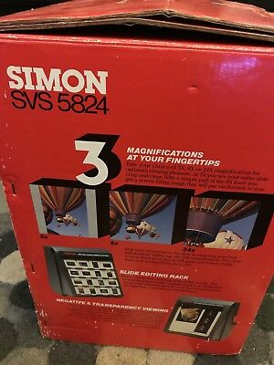"""Slide Viewing System Simon SVS5824 Fan cooled table top 8"""" x 8"""" Immaculate"""