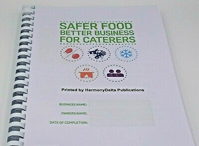 4 x Safer Food Better Business Caterers Pack incl 13 Month Diary & 12 Temp Forms
