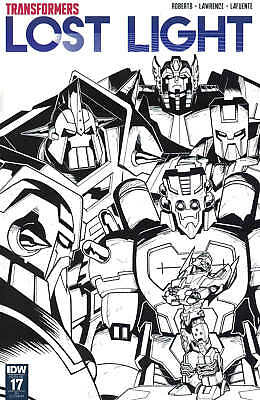 Transformers Lost Light #17 1:10 Black and White Incentive Variant RI IDW