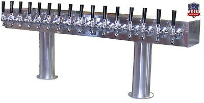 Stainless Steel Draft Beer Tower Made in USA- 16 Faucets - Air Cooled  PTB-16SS