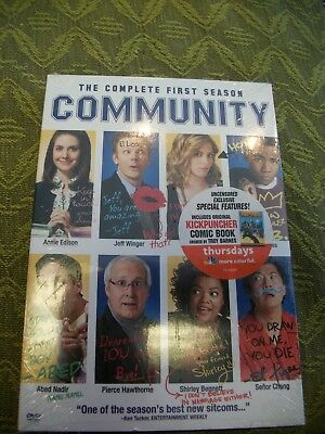 COMMUNITY The Complete FIRST Season 1 DVD 4-Disc Set Brand New & Sealed USA