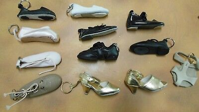 Lot of 12 Keychain DanceBag Decoration TINY SHOES Ballroom to lyrical