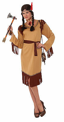Adult Princess Eagle Feather Native American Indian Costume Pocahontas  sc 1 st  PicClick & BRAND NEW Disney Princess Pocahontas Deluxe Native American Indian ...