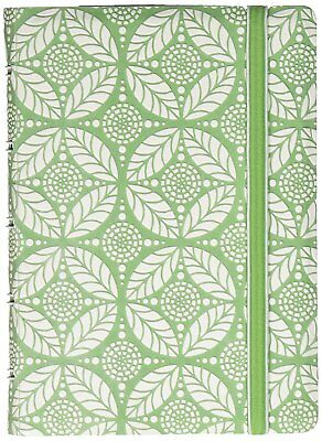 Filofax Notebook Impressions A5 - Green and White with Elastic Closure 115041