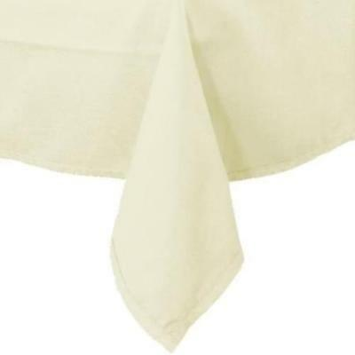 "Lot 12 IVORY Rectangle 90"" x 132"" Polyester Tablecloth Banquet Catering Wedding"