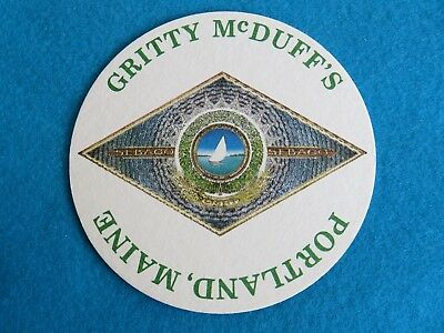 Beer Collectible Coaster ~  Gritty McDuff's Brewery ~ Maine's Original Brew Pub