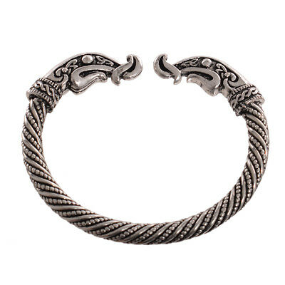 Exotic Style Vintage Golden Open Cuff Viking Warrior Bangle Soldier Bracelet 1PC
