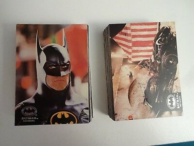 1992 Topps Stadium Club Batman Returns Complete Card Set (100) & 15 Movie Cards