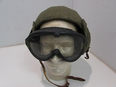 WWII U.S. Army Air Corps RARE flak hat M4A2 new old stock piece with goggles