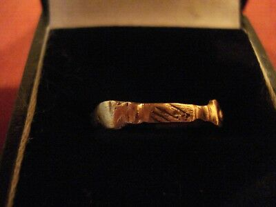 Ancient Roman Bronze 'clasped Hands' Ring--Detector Find