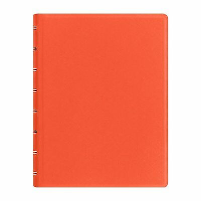 Filofax Saffiano Notebook - Bright Orange - A5 (8.25 x 5.75 inches) - 115059 New