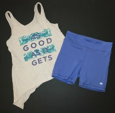 Gap Old Navy GapFit athletic bike short sport outfit set tank shirt XXL XL 12 14