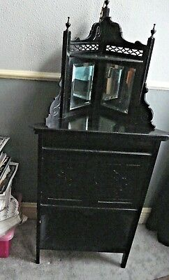 Victorian Ebonised Corner Cupboard