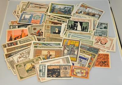 The World of Notegeld Germany 100 Piece Notegeld Lot of Colorful Emergency Money