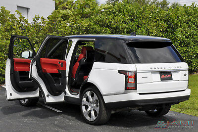2017 Land Rover Range Rover Autobiography White/Red Executive Seating Range Rover Autobiography 4K Miles!! Rare Color Combo!! Executive Rear Seating!!