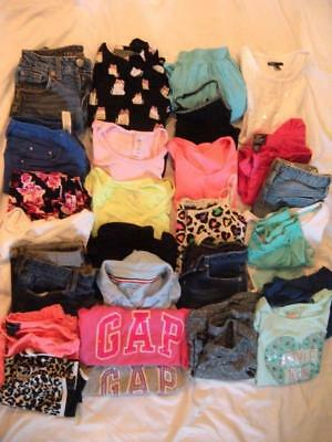 25 Piece Lot of Spring Summer Girls Clothes, sz 10/12 - Gap, Justice and more