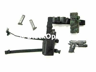 1//6 Scale GSG9 Sniper Laars HK Pistol w// Holster Mag Pouch /& Belt Set