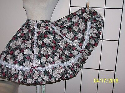 Poinsetta  western rodeo square dance skirt  Lge - X large