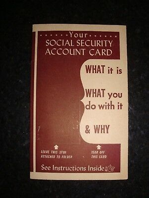 Rare Vintage Social Security Account Card Order Form Government Advertisement