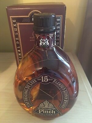 Vintage Collectible Bottle The Dimple Pinch Scotch Whiskey Sealed W Box 750 ml
