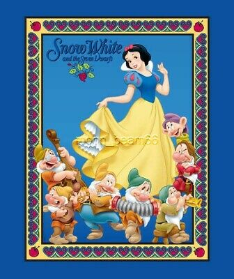 Disney Classic Snow White & the Seven Dwarfs Quilt cotton fabric panel