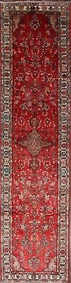 """Palace Size Floral Red Runner 3x13 Hamadan Persian Oriental Rug 13' 5"""" x 3' 5"""""""