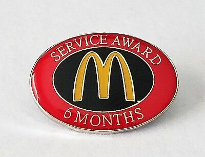 New McDonald's Lapel Pin 6 Months Service Award Recognition