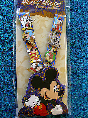 Disney * MICKEY - THROUGH THE YEARS * New 8 pin Starter Set with Lanyard & Card