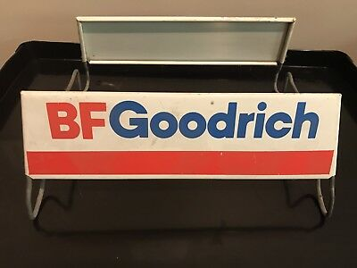 Vintage Metal Advertising BF Goodrich Store Display Tire Signs with Stand