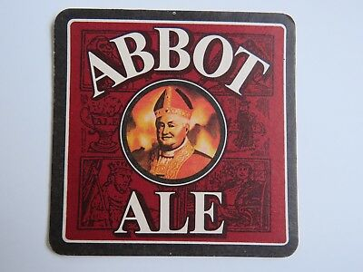 Beer Pub Coaster: Greene King Abbot Ale ~ Not For Novices, Just Like Abbot Ale