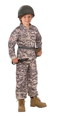 Army Desert Soldier Military Camo Camouflage Warrior Child Boys Costume NEW