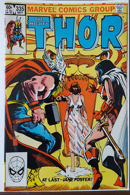 Mighty Thor # 335, (Sif / Jane Foster / Marvel Comics / 1983 / Fn / Fn- )