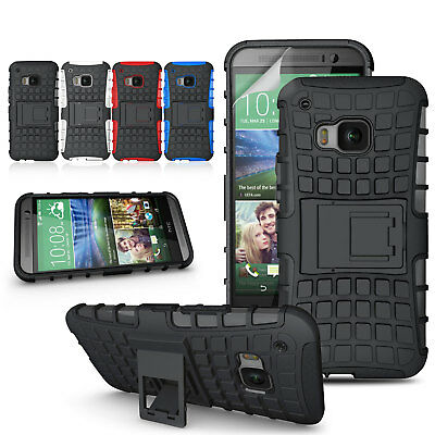 For HTC One M9 Heavy Duty Tank ShockProof Protective Hard Case Stand Back Cover