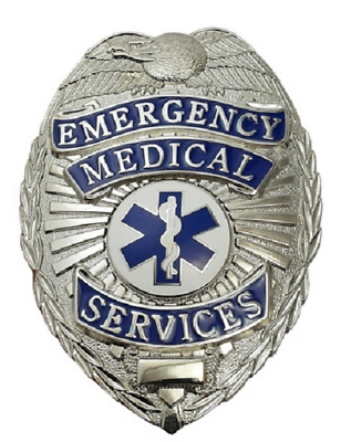 EMS Metal Badge in Gold or Silver Color