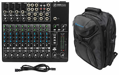 Mackie 1202VLZ4 12-Channel Compact Analog Mixer w/ 4 ONYX Preamps + Backpack