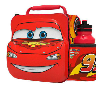 3D Cars Lunch Bag with Bottle Kids Children Insulated Drink Sports Water Food