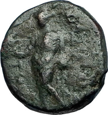 ANTIOCHOS III Megas 222BC RARE R1 Ancient Greek SELEUKID King Coin APOLLO i68827