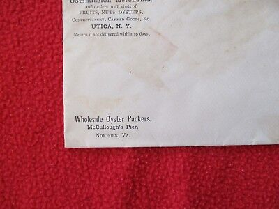 1800's McCullough's Pier,Norfolk,Virginia Wholesale Oyster Packers,Cover