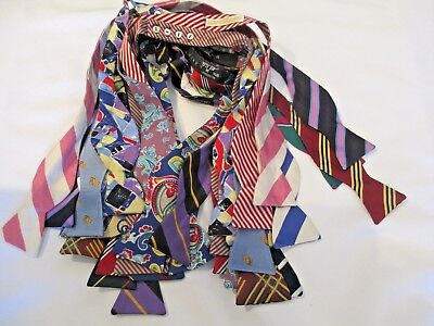 18 Assorted 100% Silk Bow Ties - Brooks Brothers - Carrot & Gibbs, Etc. Quality