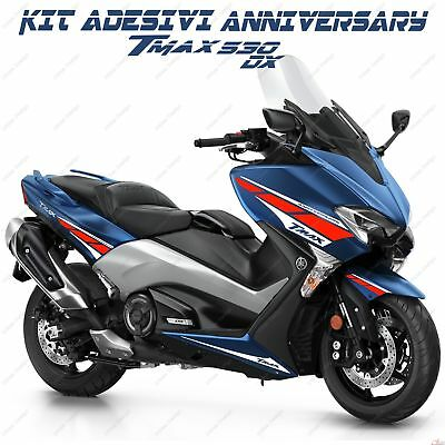 Stickers Anniversary Compatible Yamaha Tmax T-Max 530 R L Red White 2017