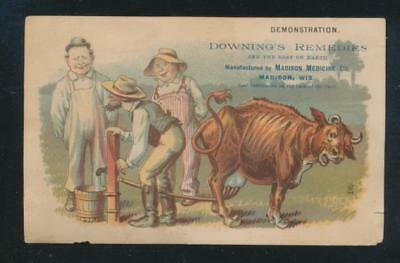 Victorian trade card, Downing's Remedies, Maadison Medison Co, Madison, Wis