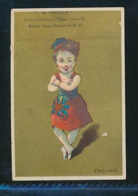 Victorian trade card, T W Priest, Confectionery, Portsmouth, NH
