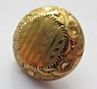 Marvelous Antique Early Gilt Metal Watch Case BUTTON Waterville Mfg Co (H20)